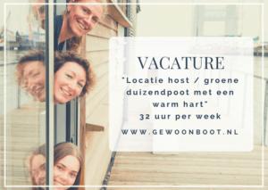 vacature gewoonboot locatie host amsterdam