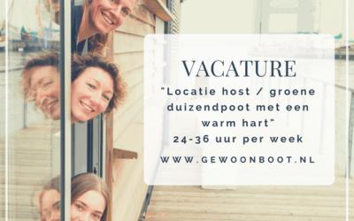 Vacature: Locatie host / groene duizendpoot 24-36 uur per week
