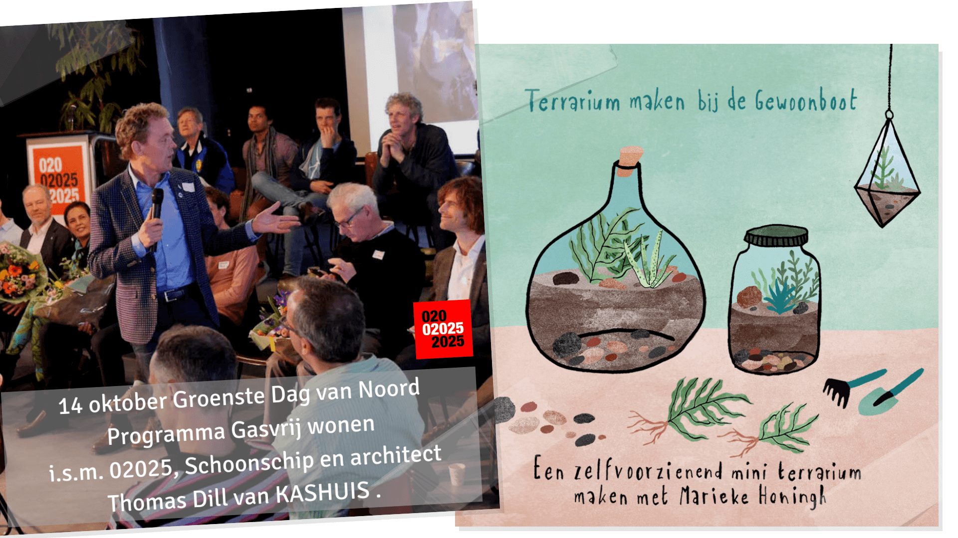 Hotspot duurzaam wonen/werken – 14 oktober – 2 inspiratie sessies aan boord tijdens de Groenste Dag van Noord